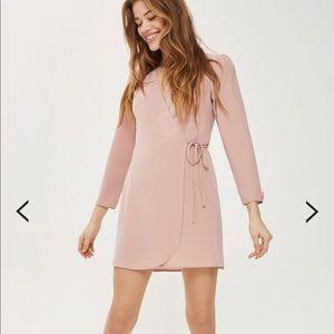 Topshop - mini long sleeve wrap dress
